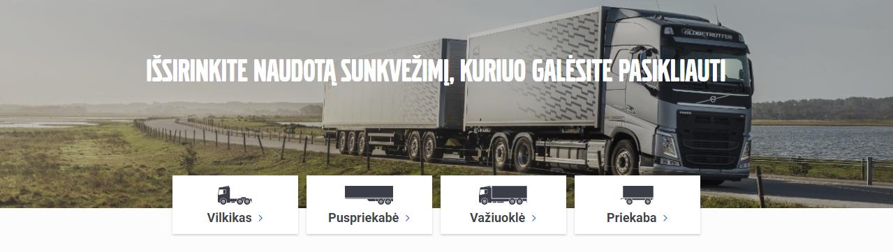 Naudoti Volvo sunkvežimiai